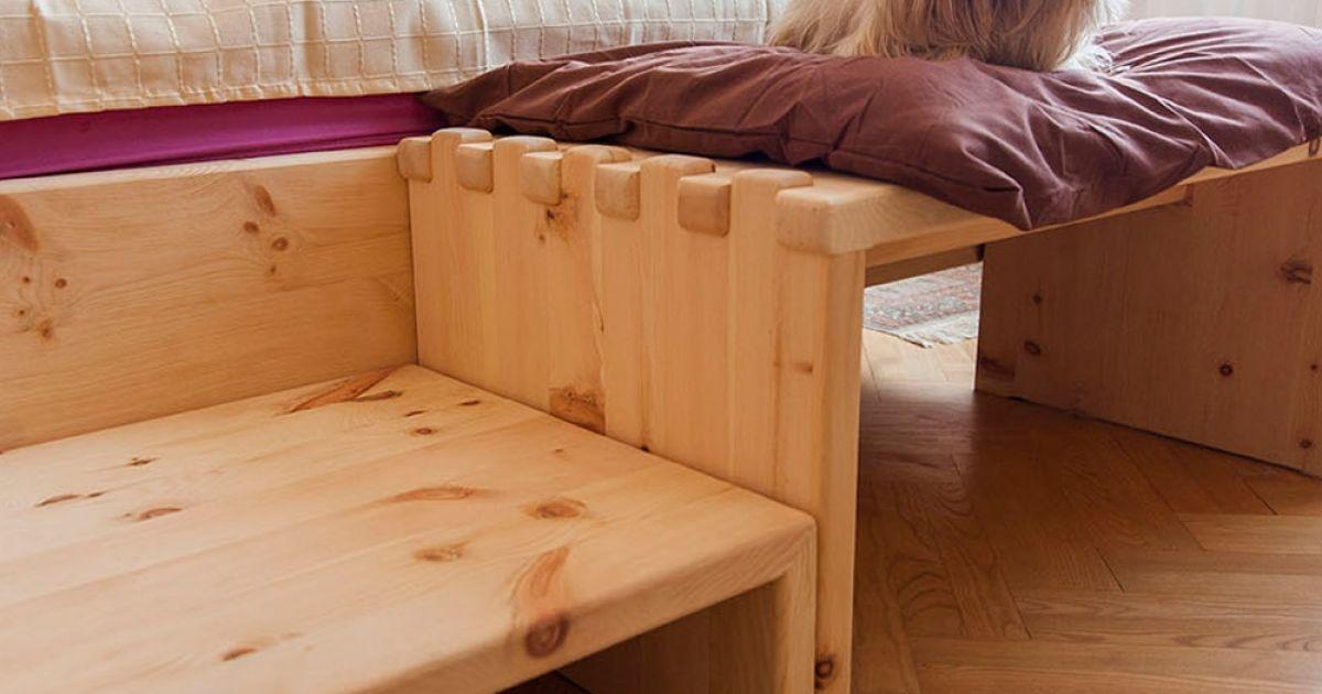 beruhigendes zirbenholz bett f r hunde m bel aus zirbenholz. Black Bedroom Furniture Sets. Home Design Ideas